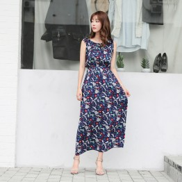 7055 new Korean fashion chiffon sleeveless dress