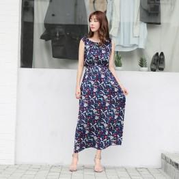 7055 new Korean fashion chiffon sleeveless dress