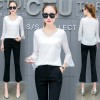 646 autumn new shirt women's long-sleeved Korean short loose shirt