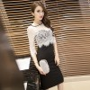 2017 new summer fashion sexy lace two-piece Slim was thin Korean version of the package hip dress 7003