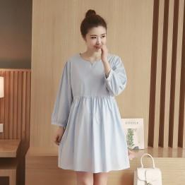 6652 pregnant women elastic waist dress