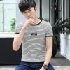 2017 summer new men 's short - sleeved T - shirt Korean printing round neck half - sleeved men' s youth
