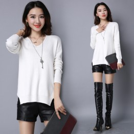 8067 large size loose  thickening women 's winter sweater