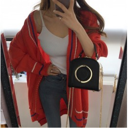 642 Korean fashion loose casual knit cardigan sweater coat