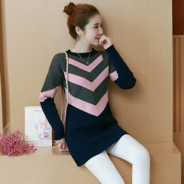 8049 loose large size knitting bottoming shirt