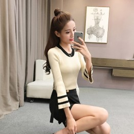 626 autumn and winter self-cultivation long-sleeved round neck sweater