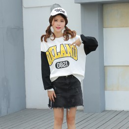 1025A Korean fashion loose long sleeve chic sweatshirt