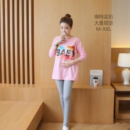 9009 long sleeve baby shirt with leggings pregnant women suit