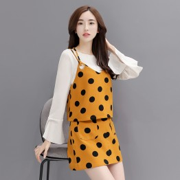 3803 dot prints three-pieces suit