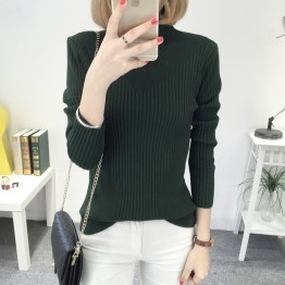 8082 slim high collar Korean long sleeve  sweater