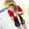 5115 bow back knit short sleeve t-shirt