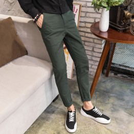 Men's Casual Pants Men's Pants Black Autumn Korean Slim Students Slim Pants Loose Halle Pants Trousers Pants