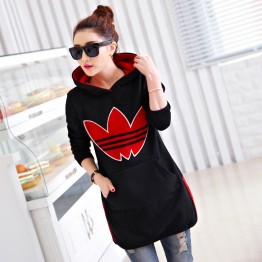 5338 thick woolen hooded sweatshirt
