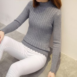 3112  autumn women's Korean fashion high-collar loose sweater