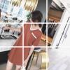 Custom Korean version of the loose color hit ice silk dress female summer 2017 new thin skirt