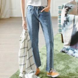 2070 Wide leg  irregular hem jeans