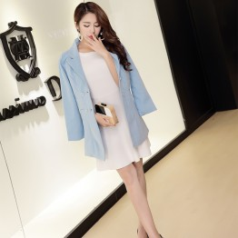 8234 long woolen jacket