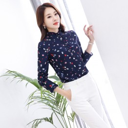 928  lace collar chiffon long sleeve shirt