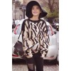 2017 autumn and winter Leopard sweater sets of round neck knitted shirt