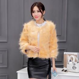 8237 Haining fox mantra rabbit hair short fur coat