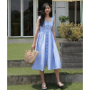 Summer style of art small fresh waist dress in the long paragraph dress