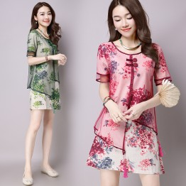 649 Women's spring and summer Chinese style improved fashion cheongsam dress
