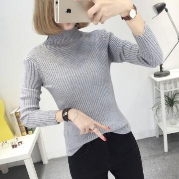 8082 # autumn and winter new slim high collar sweaterKorean long-sleeved sweater