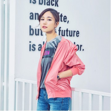 3640 Korea fashion autumn metal feel personalized cuff zipper pocket long sleeve stand collar baseball jacket