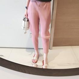 7071 casual elastic personality pleated feet Harlan pants