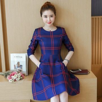 1615 # autumn fashion slim large size long sleeves dress