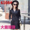 Spring and autumn new women's leather women's long motorcycle Pu jacket