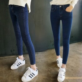 862 high waist elastic Slim pencil jeans