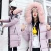 2017 down jacket fox fur slim thickening knee Korean fashion jacket 9525