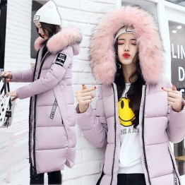 9525  fox fur slim thickening knee Korean fashion down jacket