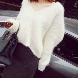 321 Autumn and winter Korea loose V-neck sweater