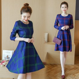 1615 # autumn fashion slim large size long sleeves dress