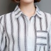 2038 stripes bottoming fashion large size long sleeve casual shirt
