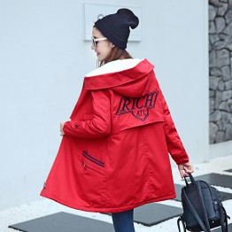 8693 woolen lining long cotton thick coat
