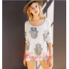 Hand printing Dovetail split seven sleeves T-shirt 2085 #