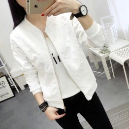 6605 Korean fashion students short jacket long-sleeved small baseball coat
