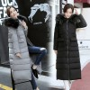 Winter new lengthened knee big hair collar pre-feather thick down warm jacket 8640
