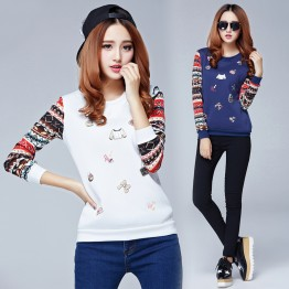 6615 new Women 's Letter Print Long Sleeve Sweatshirt