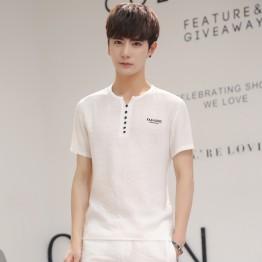 838 men's linen short sleeve T-shirt