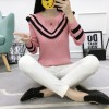 1061 autumn and winter lotus leaf knitted sweater