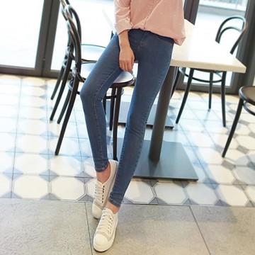 Autumn 2017 Korean version of the new was thin jeans women nine points pants high waist Slim feet wild students pencil pants