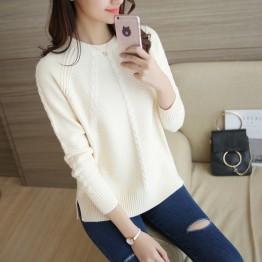 465 round neck loose twist sweater