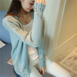 7801 Short cardigan sweater Korean fashion autumn and winter long sleeves sweater
