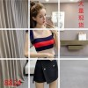 2017 summer new Korean version of the color stripes wild loose thin vest laying ice silk sweater