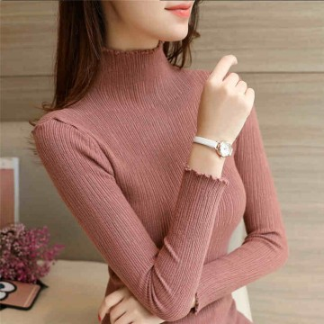 2017 new Slim thin sweater shirt