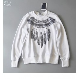 2087 loose printing feathers sweatshirt